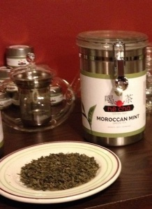 Our Moroccan Mint Display Canister will look great in your coffee shop, tearoom, office, or home.