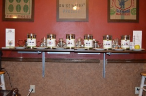 Tea Lineup and Display Front